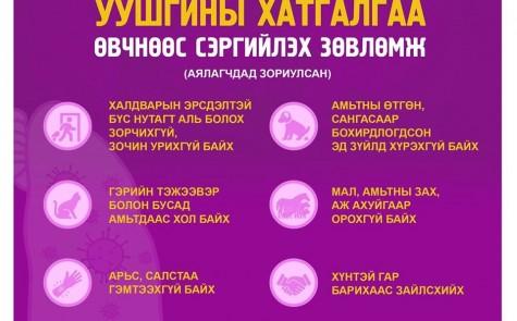 Шинэ коронавирусийн халдвараас сэргийлье!